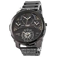 Мужские наручные часы Diesel DZ7361 Steel All Black, кварцевые, элитные часы Дизель Стил Брейв, реплика, отличное качество!