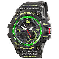 Электронные часы Casio G-Shock GG-1000 Black-Green, спортивные часы Джи Шок черный, реплика, отличное качество!