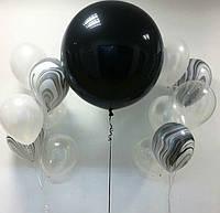Набор шаров для оформления праздника черно белый