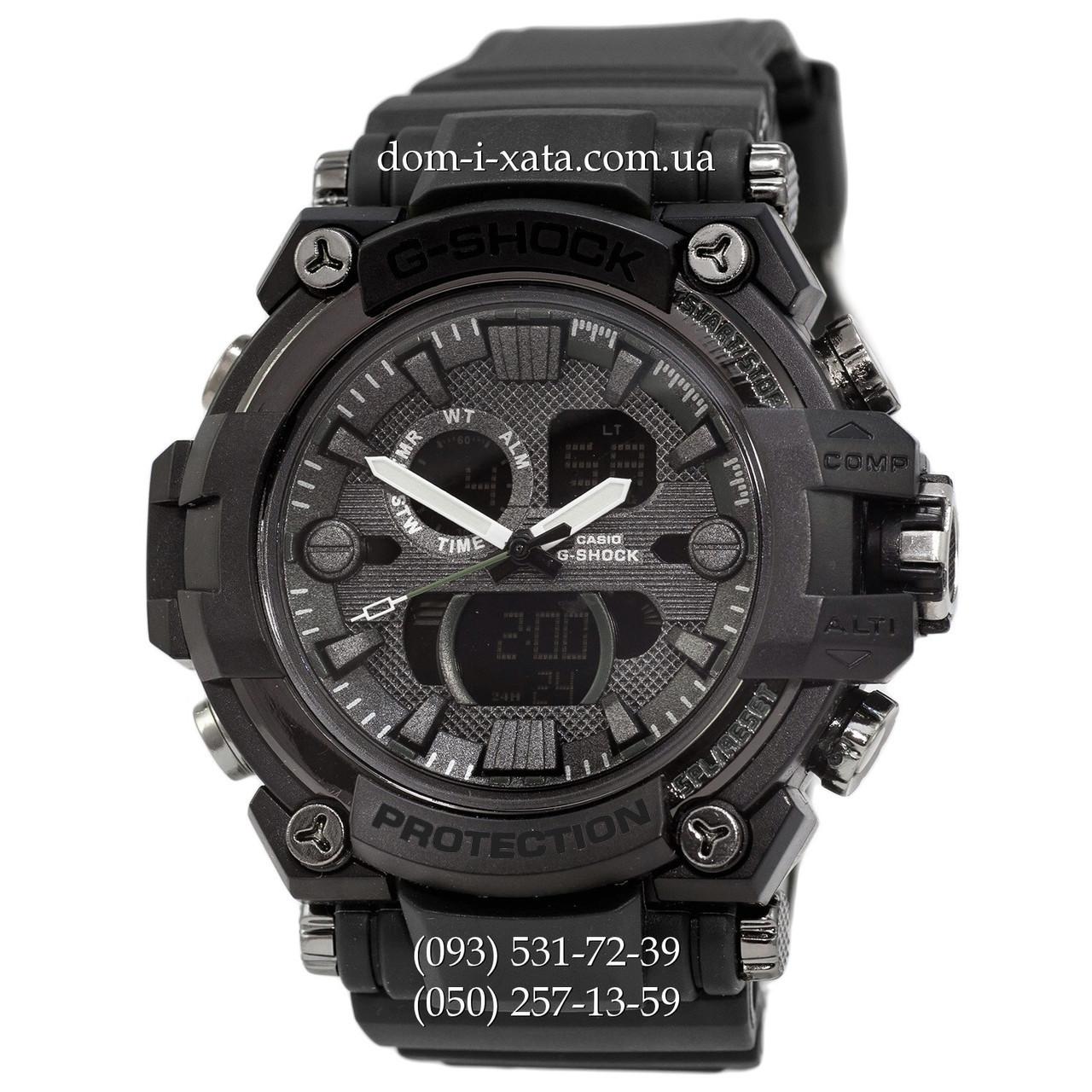 Электронные часы Casio G-Shock GWA-1045 All Black, спортивные часы Джи Шок черный, реплика, отличное качество!