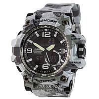 Электронные часы Casio G-Shock GG-1000 Militari-Gray, спортивные часы Джи Шок серый камуфляж, реплика, отличное качество!
