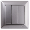 Gunsan Visage Серебро Выключатель трехклавишный