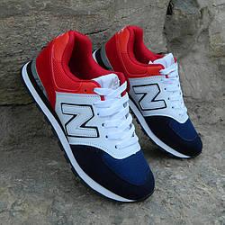 Кроссовки New Balance 574 Red White Blue мужские реплика