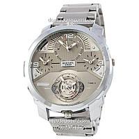 Мужские наручные часы Diesel DZ7361 Steel All Silver, кварцевые, элитные часы Дизель Стил Брейв, реплика, отличное качество!