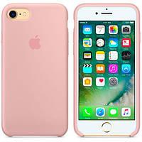 Оригинальный Силиконовый чехол Apple\Original silicone case for iPhone 7 pink sand (розовый песок)(Original)