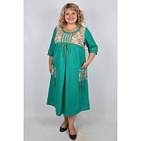 Платье Этно батал бирюза, фото 1