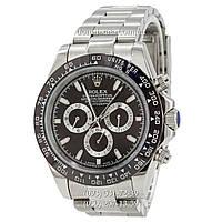 Мужские часы Rolex Daytona AAA Silver-Black-Black, механические часы Ролекс Дайтона качество, реплика, отличное качество!