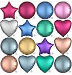 Тренд сезона Фольгированные звезды, сердца и круги цвета Сатин