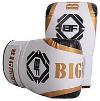 """Снарядные перчатки """"BigFight"""" белые винил"""