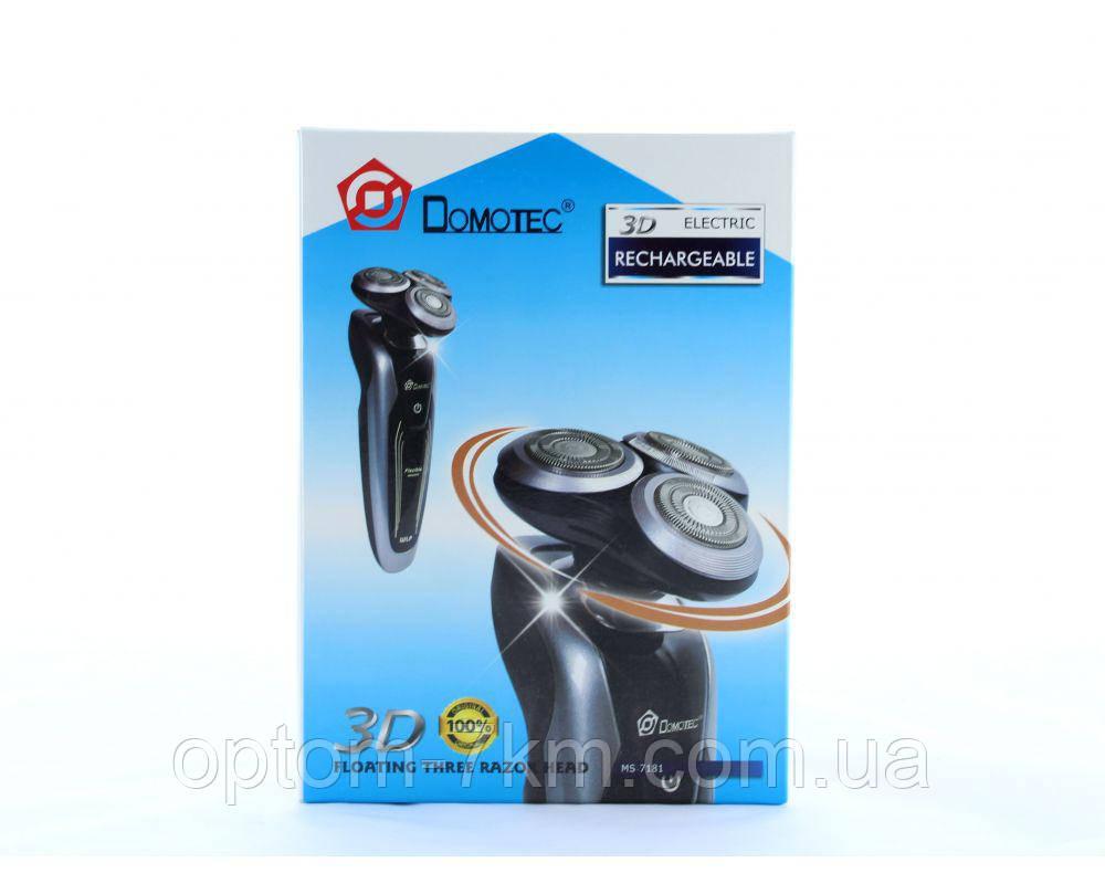 Аккумуляторная Мужская 3D Бритва Domotec MS-7181
