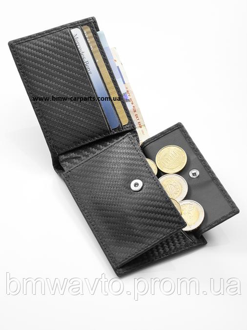 Кожаный кошелек Mercedes-Benz Mini wallet, AMG, Carbon Look, фото 2