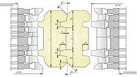 Комплект фрез для изготовления стенового бруса СБ-01