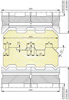 Комплект фрез для изготовления стенового бруса СБ-00
