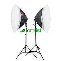 Набор постоянного флуоресцентного света Falcon LHD-B628FS-OB8-2 KIT Ø80 см, 12х28w, 1680 Вт, 5500К