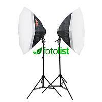 Набор постоянного флуоресцентного света Falcon LHD-B628FS(OB8)-2 KIT Ø80 см, 12х28w, 1680 Вт, 5500К