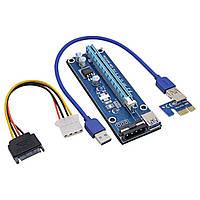 Райзер PCI-E Riser Ver. 007 USB 3.0 Molex USB. 60см