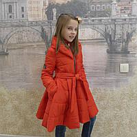 Детская одежда.  Пальто-18модель( весна-осень) красная, фото 1