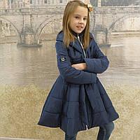 Детская одежда.  Пальто -18модель( весна-осень) синяя, фото 1