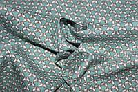 Ткань джинс стрейч мелкая бабочка