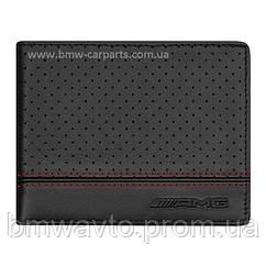 Кожаный кошелек Mercedes-Benz AMG Wallet, Black Lambskin, Restyle