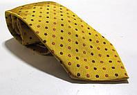 Галстук FLORIS DUETZ желтый в крапинку , шелк, 9 см, Как Новый!