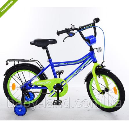 Велосипед двухколёсный детский 16 дюймов Top Grade Y16103 синий