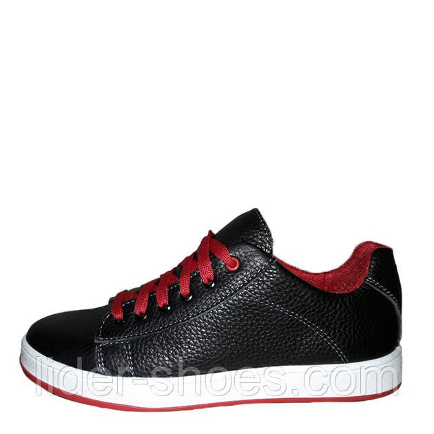 Кожаные подростковые кроссовки