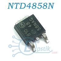 NTD4858N, MOSFET транзистор N-канал, 25В 73А, TO252