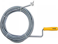 Трос сантехнический для прочистки канализационных труб Vorel 55545,  10метров
