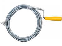 Трос сантехнический для прочистки канализационных труб Vorel 55544,  5метров