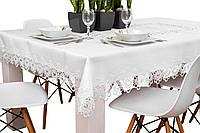 Скатерть 220*150  с кружевом на обеденный стол, фото 1