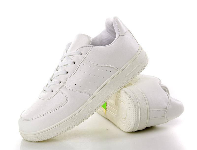 Кроссовки женские белые форсы низкие с перфорацией, фото 2