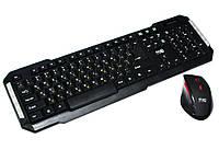Комплект HQ-Tech KM-219RF Gray, Optical, 2.4G, USB nano, мультимедийная клавиатура+мышь