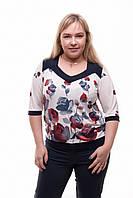 Женская блуза из трикотажа Розы