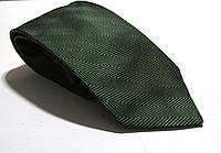 Галстук темно-зеленый DUETZ, шелк, 8.5 см, Как Новый!