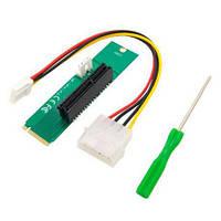 Плата расширения PCIE для M.2 (питание FLop+Molex 4pin)