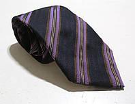 Галстук черно-фиолетовый DUETZ, шелк, 8.5 см, Как Новый!