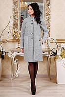 Демисезонное женское серое пальто В-1092 Aрт.160406 Тон 3 Favoritti 44-54 размер