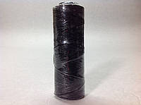 Нитка вощёная по коже (плоский шнур), т. 1мм, 100 м, цв. черный