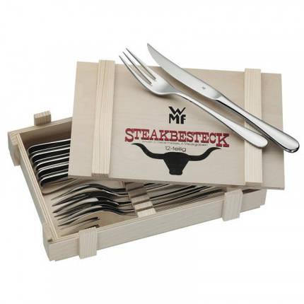 Набор приборов столовых для стейка WMF, 12 предметов (12 8023 9990 PROMO), фото 2