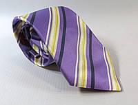 Галстук DUETZ 8 см фиолетовый, шелк,   Как Новый!