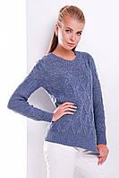 Женский вязаный свитер с ромбами
