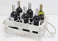 Подставка для вина ящик на 6 бутылок(мини-бар)