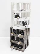 Подставка для вина ящик, (модульный) на 6 бутылок вертикальный(мини-бар)