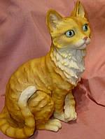 Кот рыжий полосатый большой 28,5 сантиметров высота