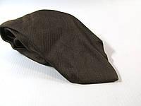 Галстук коричневій 8.5 см уценка помят, шелк,  Как Новый!