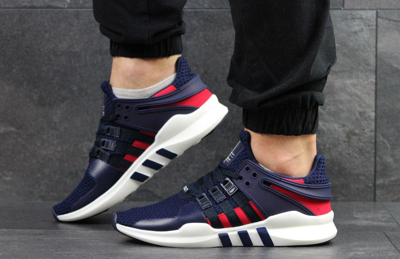 Кроссовки мужские Adidas Equipment,синие с красным 42,44р