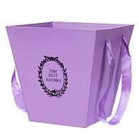 Коробка для цветов и композиций 0314J/purple