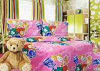 """Детский комплект постельного белья """"Фиксики"""" розовый"""