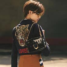 Женская куртка эко-замш копия бренда